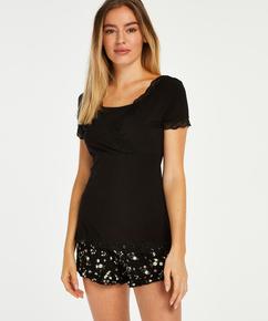 Ditzy Flower pyjamassæt til gravide, sort