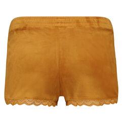 Velours Lace shorts, gul