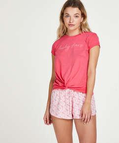 Kortærmet pyjamastop Jersey Knot, rød