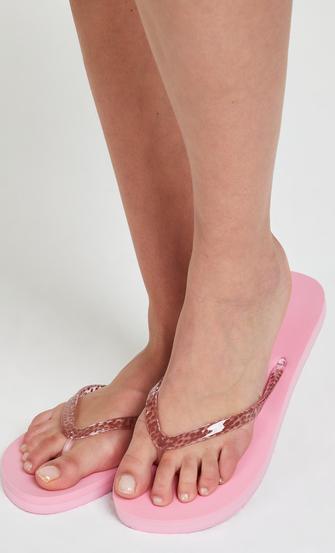 Teensslippers leopard, pink