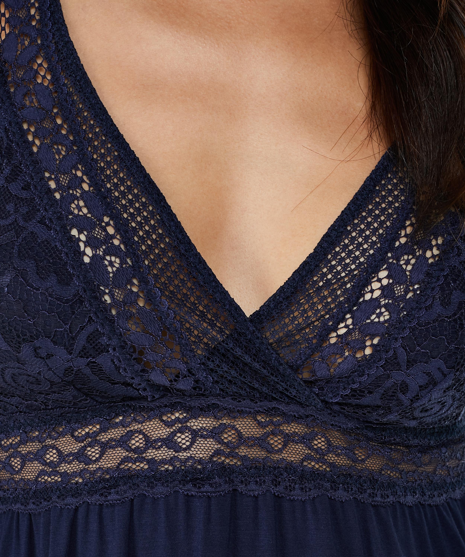 Graphic Lace natkjole, blå, main