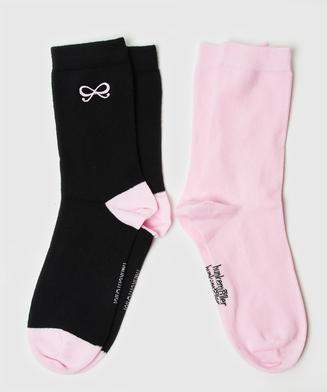 2 par sokker Bow, sort