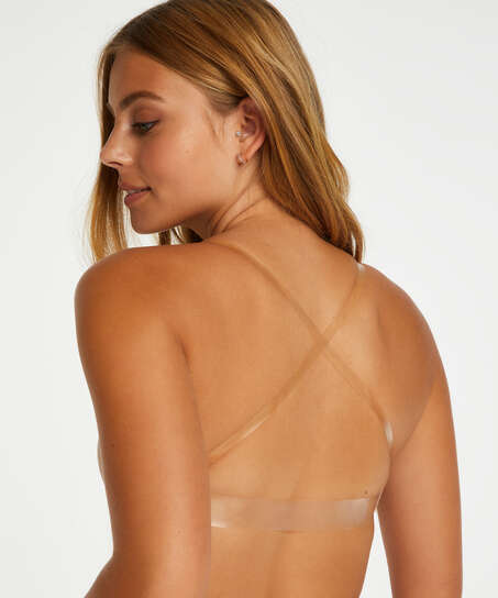 Transparent Back formstøbt bøjle-bh, Beige