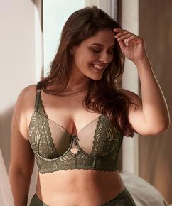 Formstøbt longline-bøjle-bh Rabella I AM Danielle, grøn