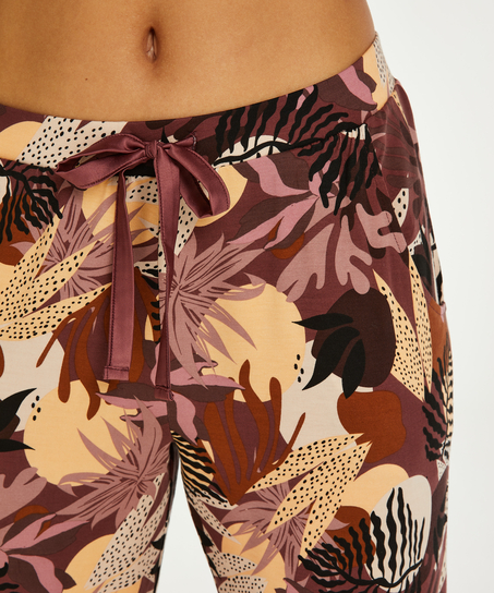 Pyjamasbukser Jersey Abstract Leaf, pink