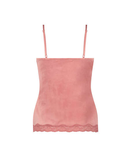 Cami Velour Lace, pink