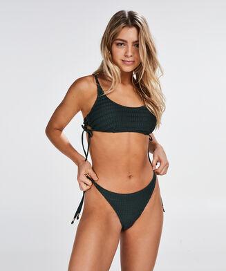 Tied Down bikinitrusse med g-streng, grøn