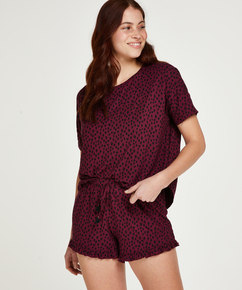 Kort pyjamassæt, rød