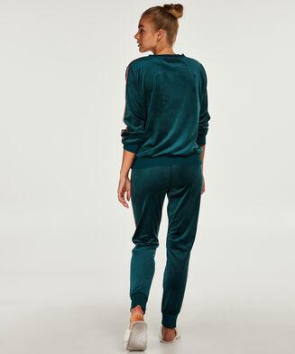 Velours Stripe joggingbukser, grøn