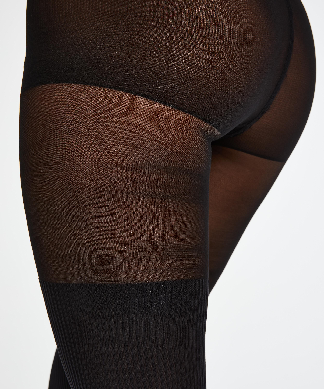 Overknee sock 50 Denier strømpebukser, sort, main