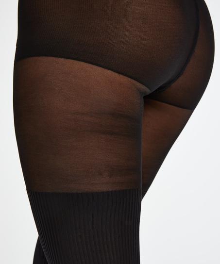Overknee sock 50 Denier strømpebukser, sort