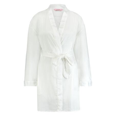 Satin kimono Bridal, hvid