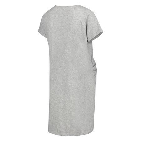 Pyjamas-T-shirt med korte ærmer til gravide, Grå