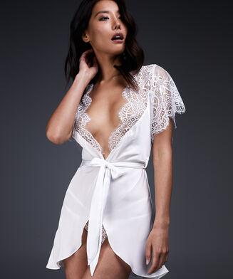Cap Sleeve kimono, hvid