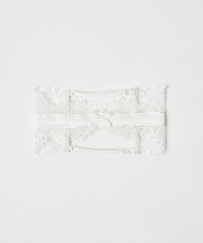 Strømpebånd Noir, hvid, main