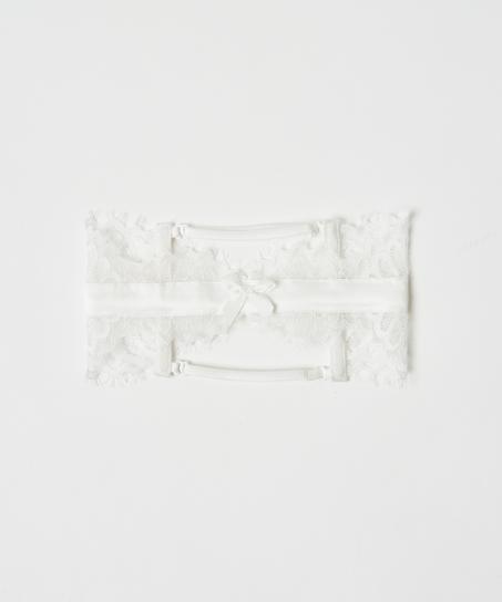 Strømpebånd Noir, hvid