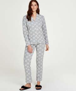 Pyjamassæt Boyfriend Heart, Grå