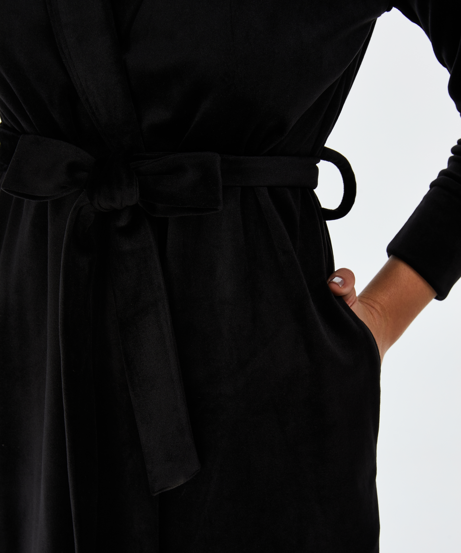 Velvet badekåbe, sort, main