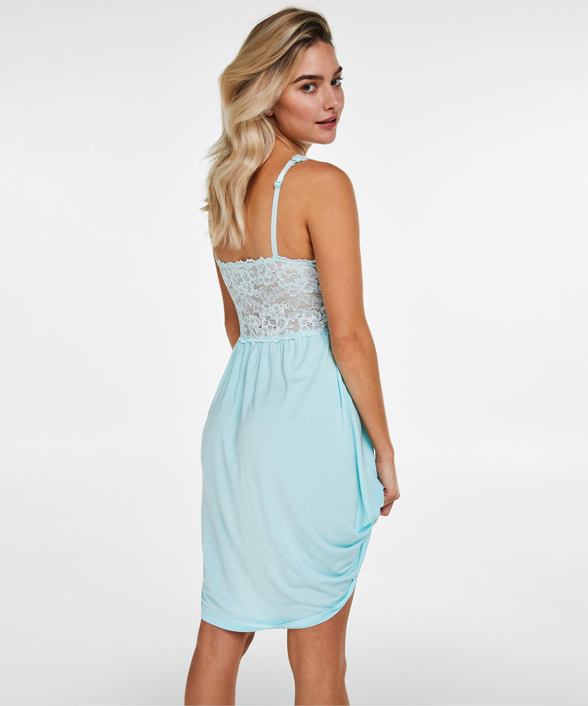 Modal Lace natkjole, blå, main