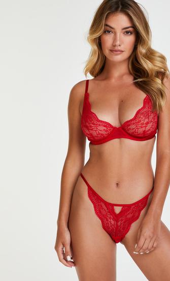 Ikke-polstret tråd-bh Isabelle, rød