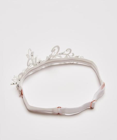 Strømpebånd Guipure-blonder Noir, hvid