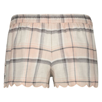 Twill Check pyjamasshorts, pink