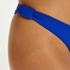 Luxe bikinitrusse med høje ben, blå