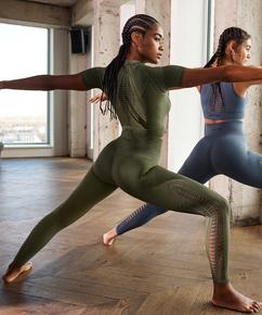 HKMX Karma sømløse leggings med høj talje, grøn