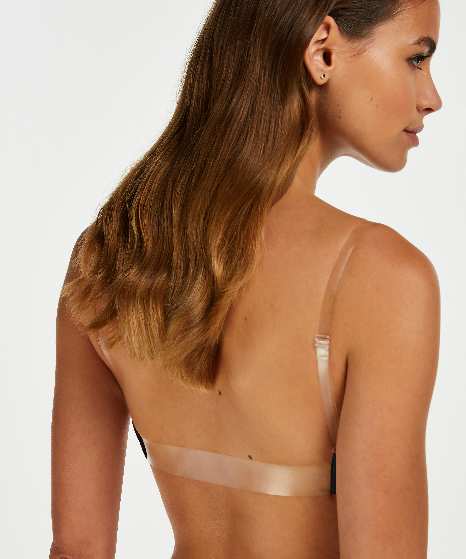 Transparant Back formstøbt pushup-bøjle-bh, sort, main