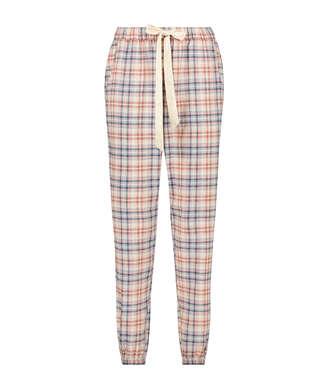 Check pyjamasbukser, Beige