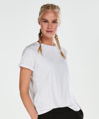 HKMX sportsshirt med korte ærmer, hvid