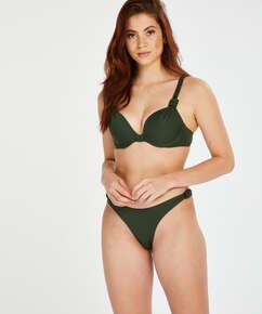 Luxe bikinitrusse med høje ben, grøn