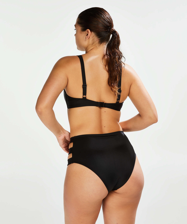Sunset Dream bikinitrusse med høj talje, sort, main