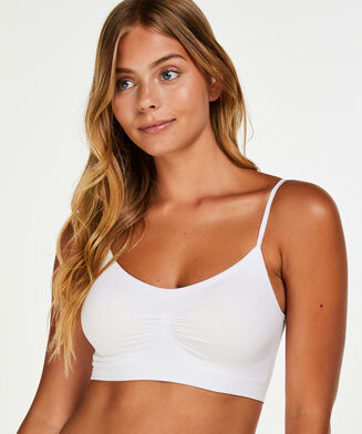 Seamless strappytop, hvid