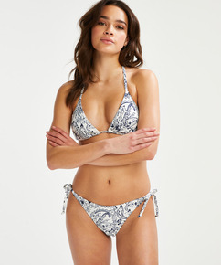 Brasiliansk bikinitrusse Paisley, hvid