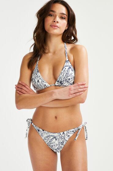 Hunkemöller Brasiliansk bikinitrusse Paisley hvid