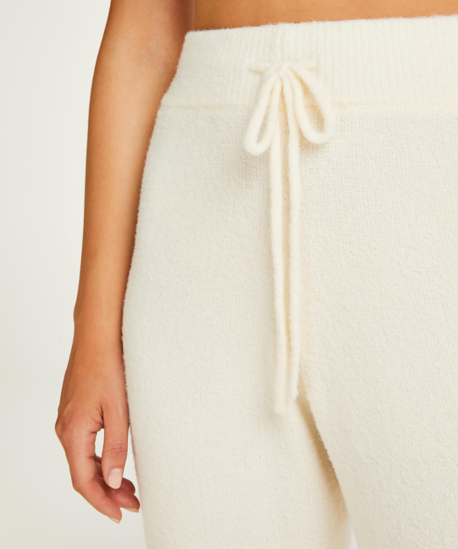 Premium Træningsbukser fluffy, hvid, main