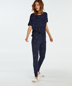 Jersey pyjamasbukser, blå