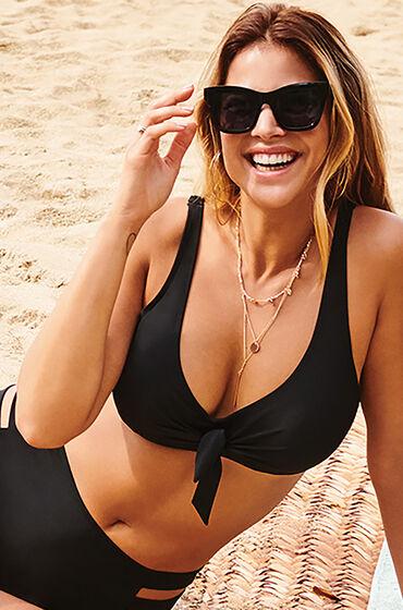 Hunkemöller Ikke-forformet bøjle-bikinitop Sunset Dreams sort