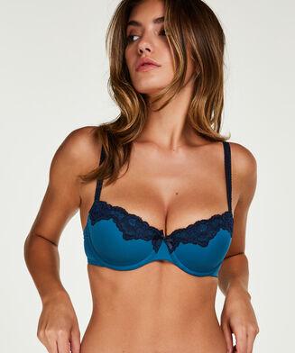 Secret Lace formstøbt bøjle-bh, blå