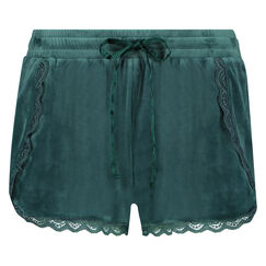 Velours Lace shorts, grøn