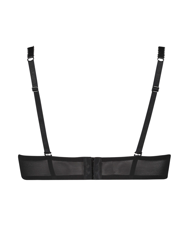 Formstøbt strapless bøjle-bh Senara, sort, main