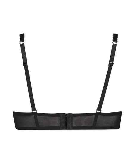 Formstøbt strapless bøjle-bh Senara, sort