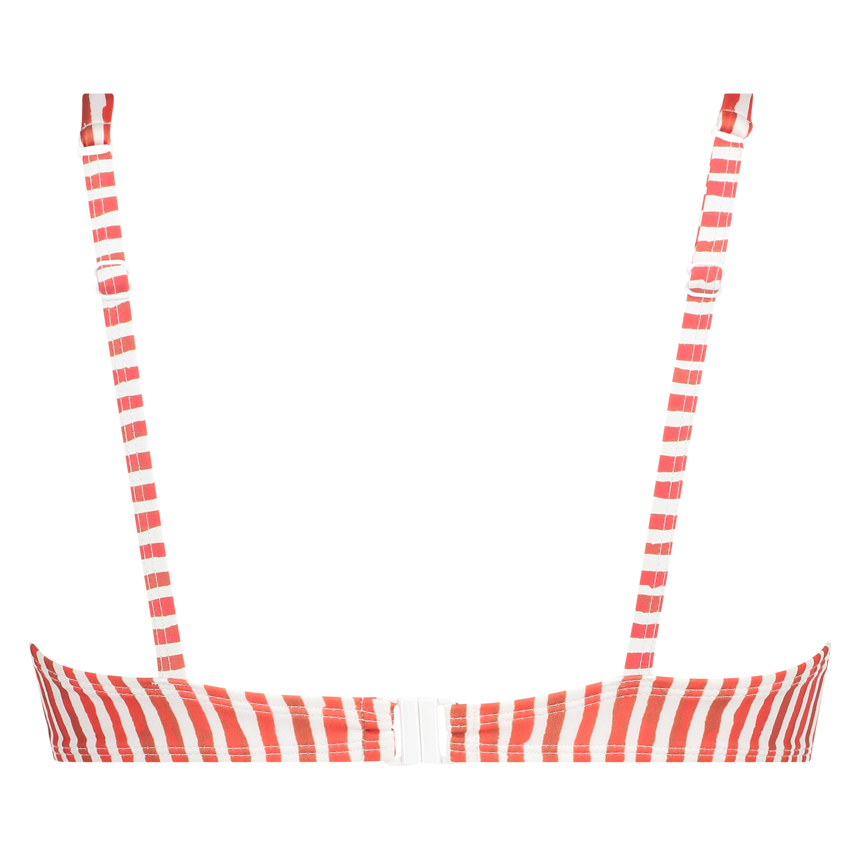 Ikke-formstøbt bikinitop med bøjle Julia, rød, main