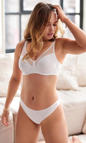 Usynlig-g-streng, hvid