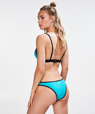 HKMX Colour Block trekant-bikinitop, blå
