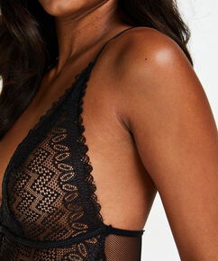Geo Lace body, sort