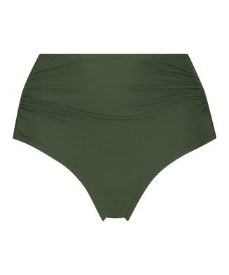 Luxe høje bikinishorts, grøn