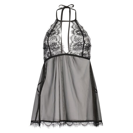 Lace babydoll, sort