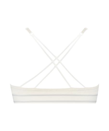 Formstøbt triangle bralette Casey bomuld, hvid
